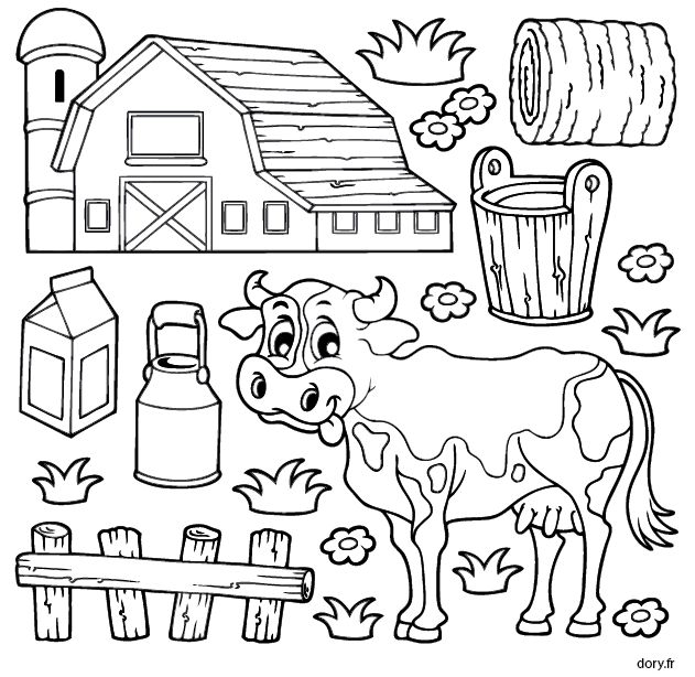 Excellent Ferme à Colorier 41 sur Coloriage idée with Ferme à Colorier