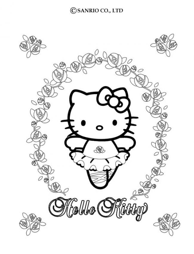 Excellent Hello Kitty Coloriage Danseuse 36 Avec supplémentaire Coloriage Pages with Hello Kitty Coloriage Danseuse
