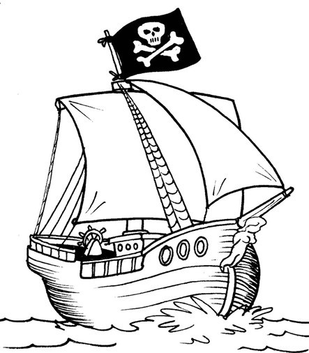 Facile Bateau Pirate Coloriage 25 Dans Coloriage Pages with Bateau Pirate Coloriage