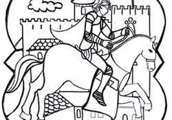Facile Coloriage Chevalier Moyen Age 60 sur Coloriage Inspiration with Coloriage Chevalier Moyen Age