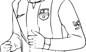 Facile Coloriage Foot Messi 83 Pour Coloriage Inspiration with Coloriage Foot Messi