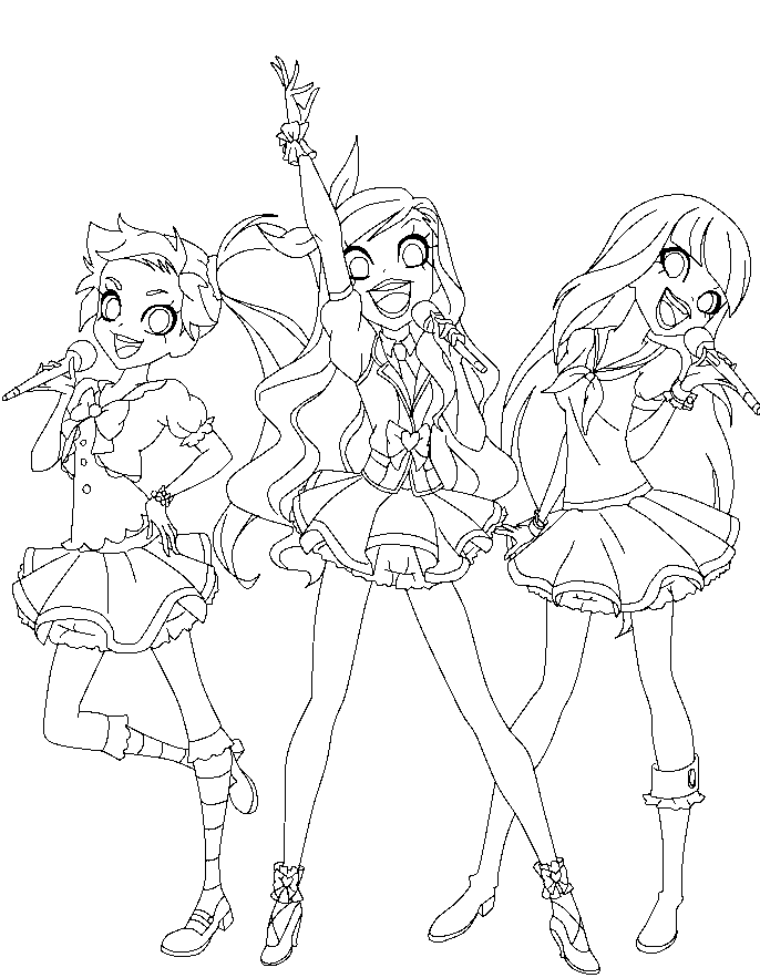 Facile Coloriage Loli Rock 54 sur Coloriage Books for Coloriage Loli Rock