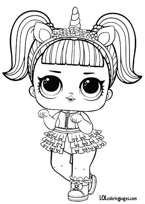 Facile Coloriage Poupeé Lol 36 Pour Coloriage Pages for Coloriage Poupeé Lol
