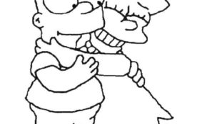 Facile Coloriage Simpson 19 sur Coloriage Books for Coloriage Simpson