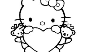 Facile Dessin Hello Kitty Coeur 40 Pour votre Coloriage Books for Dessin Hello Kitty Coeur
