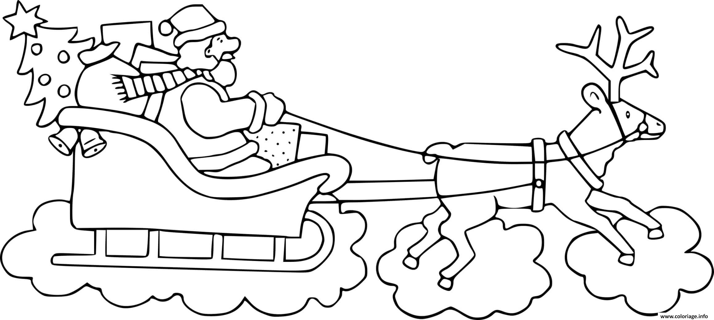 Facile Pere Noel Traineau Dessin 11 Dans Coloriage Inspiration with Pere Noel Traineau Dessin