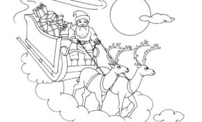 Facile Traineau Noel Dessin 84 sur Coloriage Pages by Traineau Noel Dessin