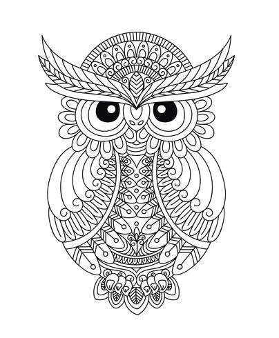 Génial Coloriage Chouette Adulte 96 Dans Coloriage Inspiration by Coloriage Chouette Adulte