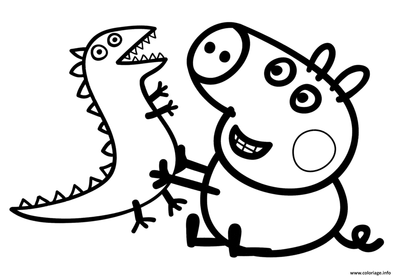 Génial Coloriage Peppa Pig 27 sur Coloriage Pages with Coloriage Peppa Pig