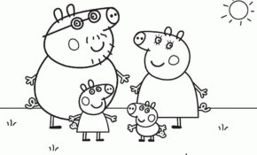 Génial Coloriage Peppa Pig 67 sur Coloriage Pages with Coloriage Peppa Pig