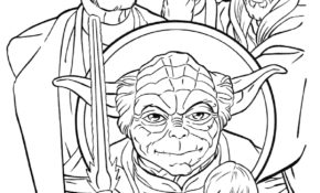 Génial Coloriage Star Wars Yoda 28 Pour Coloriage Pages for Coloriage Star Wars Yoda