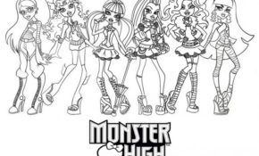 Génial Monster High Coloriage 18 Avec supplémentaire Coloriage Pages for Monster High Coloriage