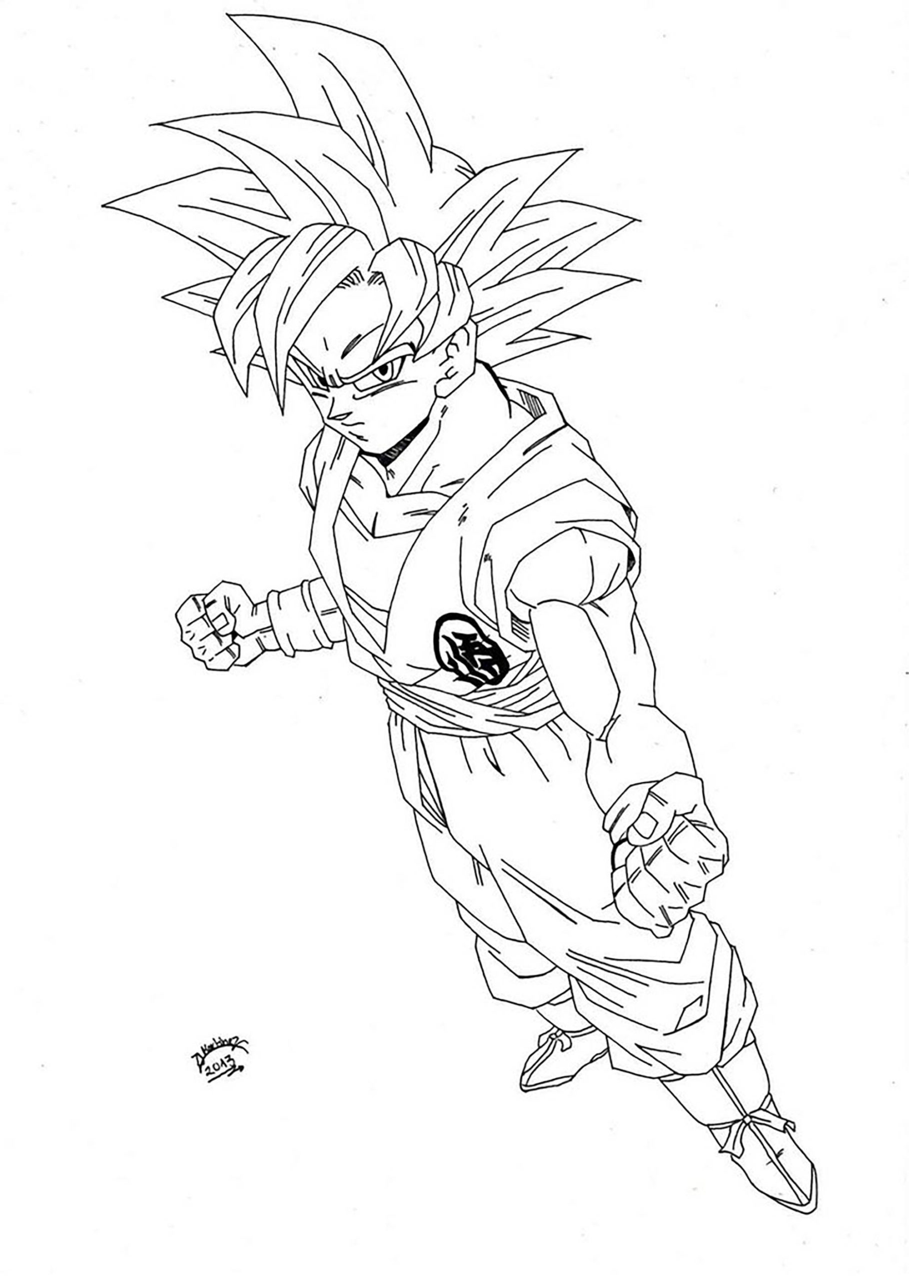 Haut Coloriage Dragon Ball Super 22 Avec supplémentaire Coloriage Books for Coloriage Dragon Ball Super