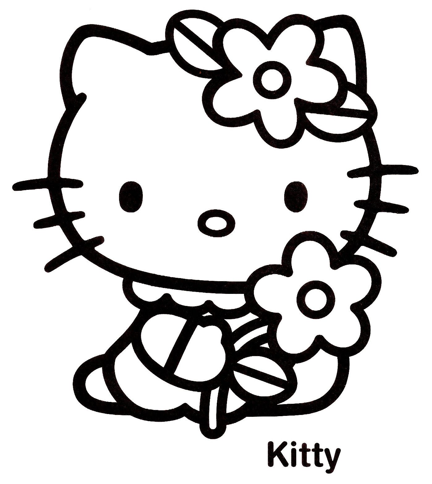 Haut Coloriage Hello Ketty 16 sur Coloriage Pages by Coloriage Hello Ketty