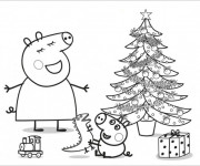 Haut Coloriage Peppa Pig Noel 95 Dans Coloriage Inspiration with Coloriage Peppa Pig Noel