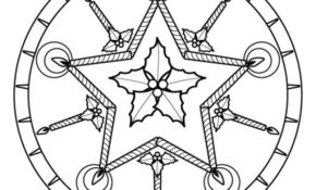 Haut Mandala De Noel Facile 40 Dans Coloriage Pages with Mandala De Noel Facile