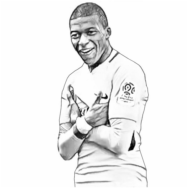 Impressionnant Coloriage Mbappe 30 Pour Coloriage Books for Coloriage Mbappe