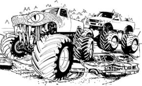 Impressionnant Coloriage Monster Truck 84 Avec supplémentaire Coloriage Inspiration by Coloriage Monster Truck