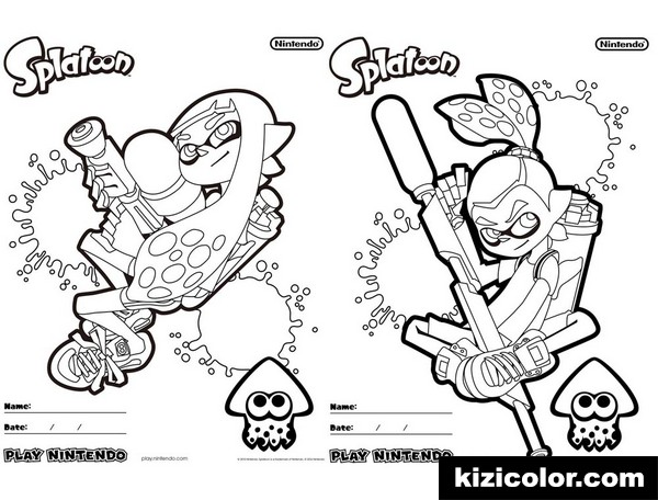 Impressionnant Dessin Splatoon A Colorier 41 Dans Coloriage Books by Dessin Splatoon A Colorier