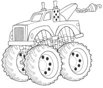 Magnifique Coloriage Monster Truck 93 sur Coloriage Pages by Coloriage Monster Truck