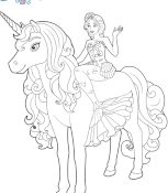 Meilleur Coloriage Licorne Barbie 90 sur Coloriage Inspiration for Coloriage Licorne Barbie