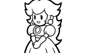 Meilleur Coloriage Princesse Peach 57 Pour Coloriage Inspiration for Coloriage Princesse Peach