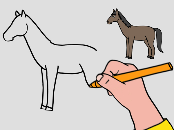 Meilleur Dessin Facile A Faire De Cheval 23 Dans Coloriage Inspiration with Dessin Facile A Faire De Cheval