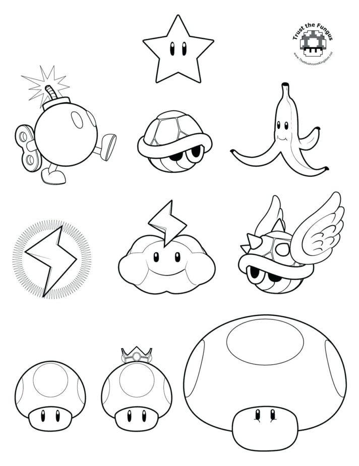 Meilleur Mario Kart 8 Coloriage 27 sur Coloriage Pages with Mario Kart 8 Coloriage