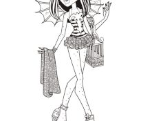 Meilleur Monster High Coloriage 88 Pour Coloriage Inspiration by Monster High Coloriage